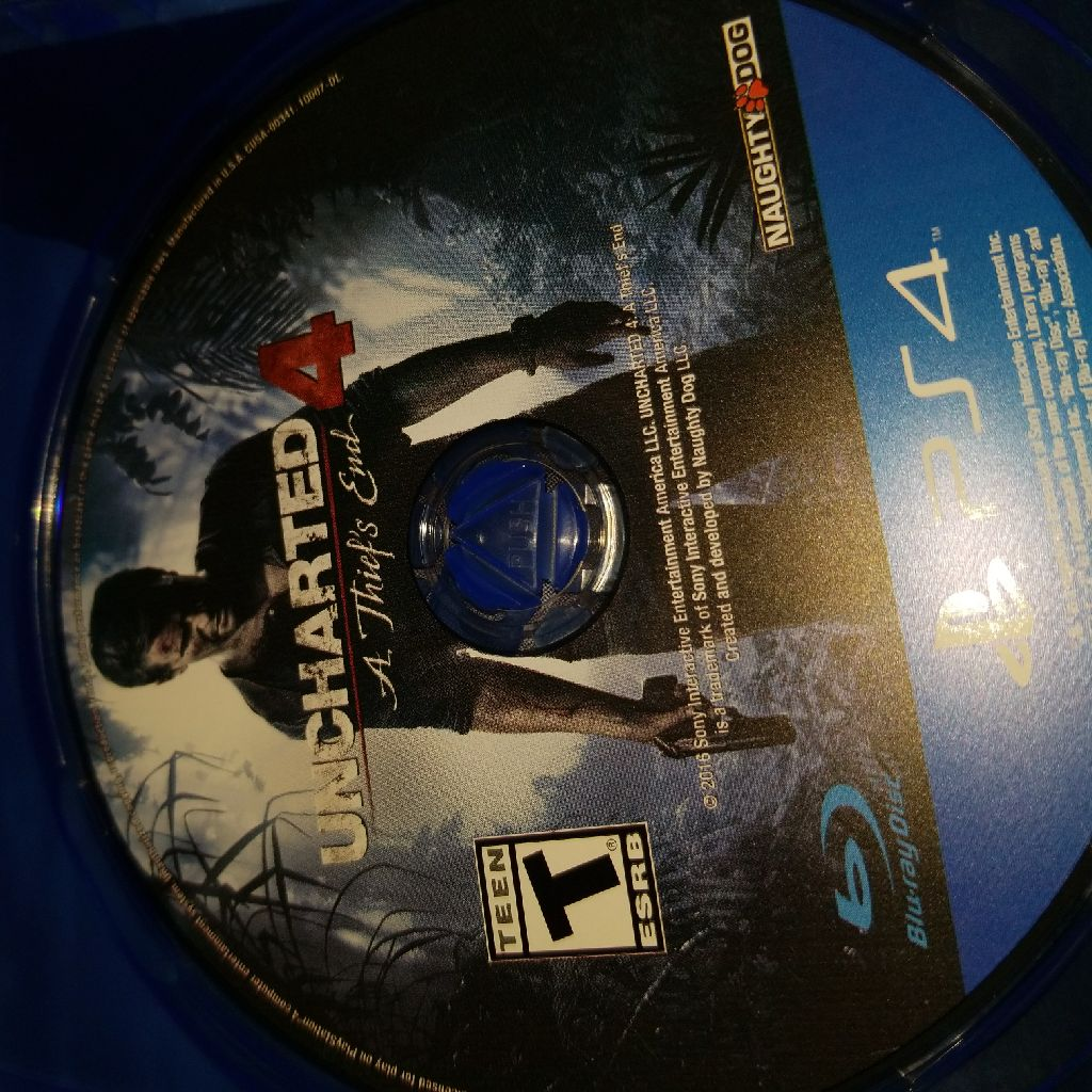 Uncharted 4 game for ps4