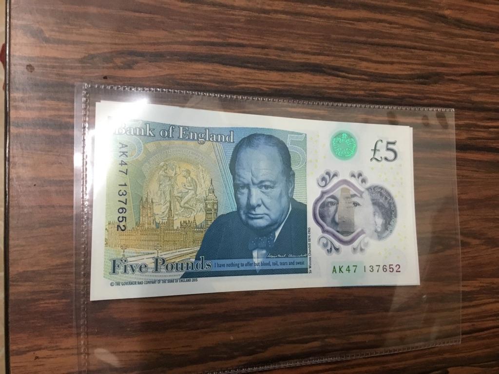 AK47 137652 £5 note mint rare