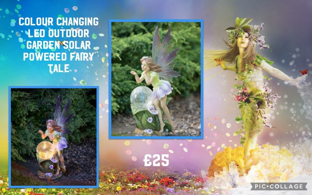 COLOUR CHANGING LED OUTDOOR GARDEN SOLAR POWERED FAIRY TALE