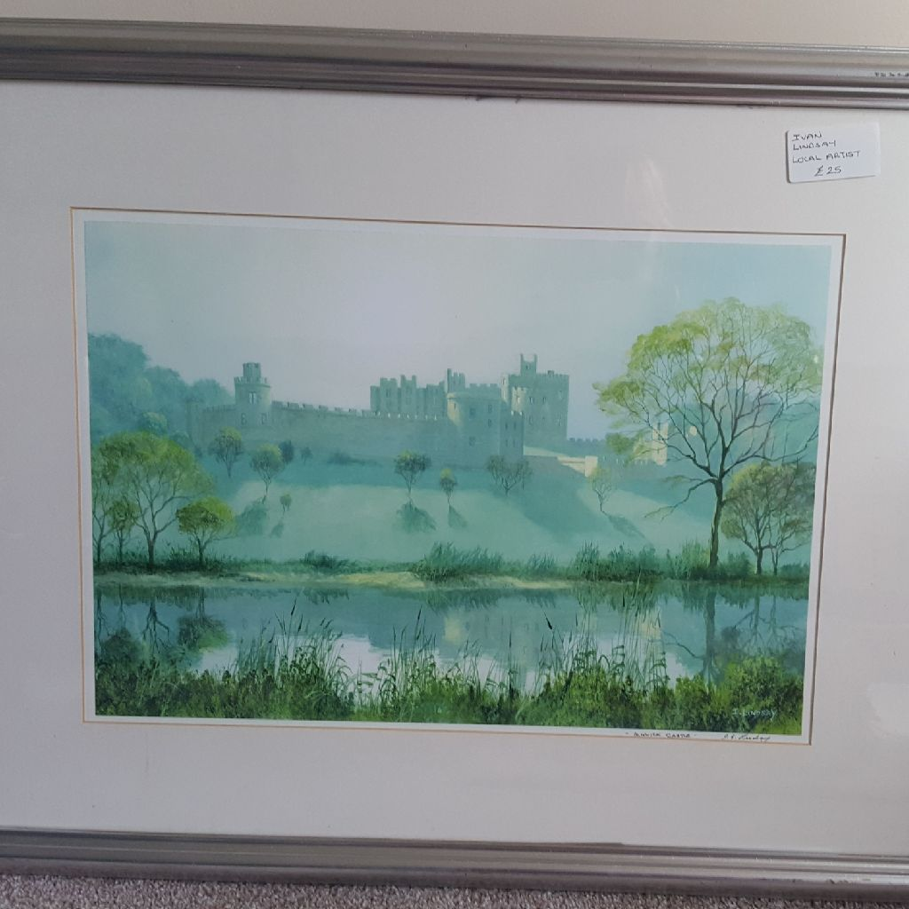 Alnwick castle by Ivan Lindsay local artist