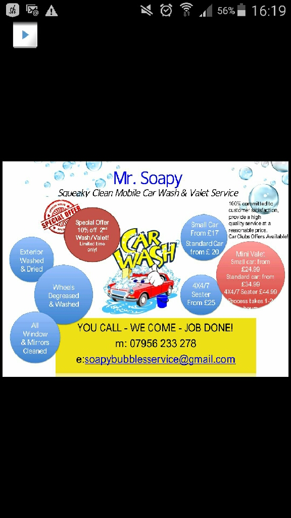 Mr Soapy's Car Wash Valet Service