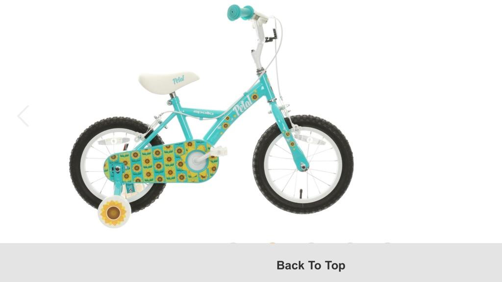 """Kids Apollo petal 14"""" bike excellent condition"""