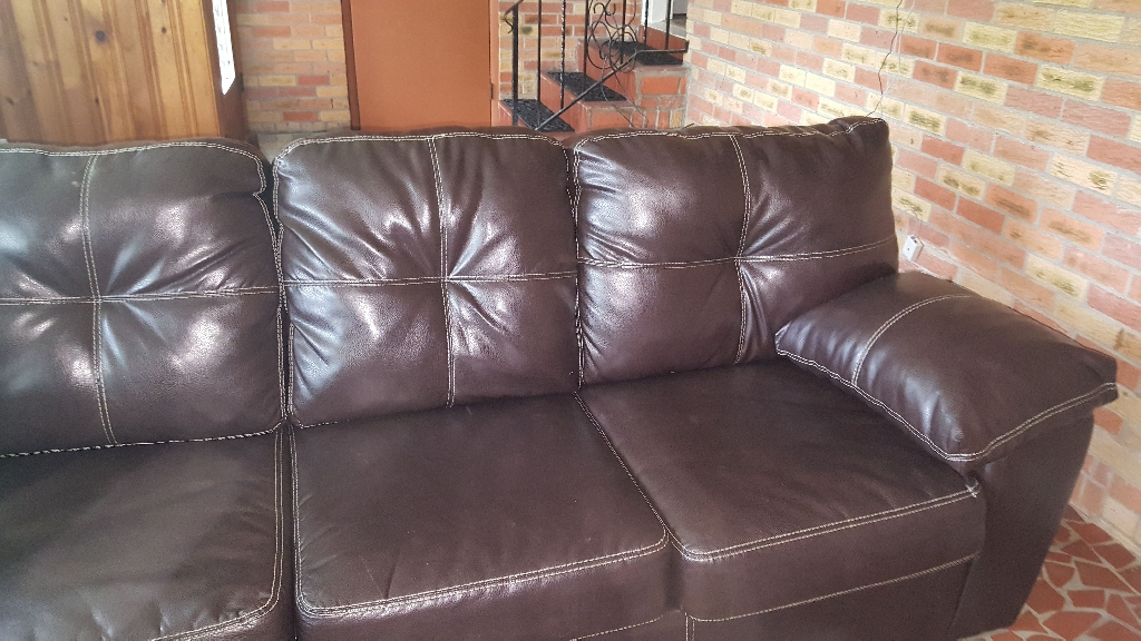 Chocolate Brown sectional sofa