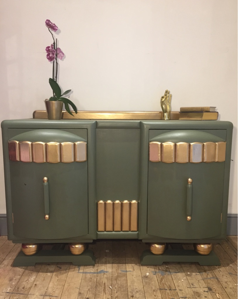 Art Deco drinks cabinet/sideboard. Free delivery