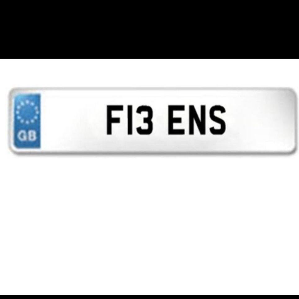 F13ENS personlised plate