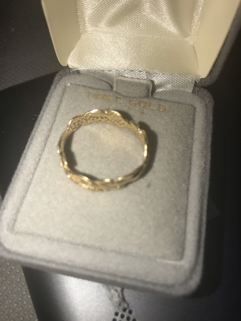 14k solid gold ring for women size 6