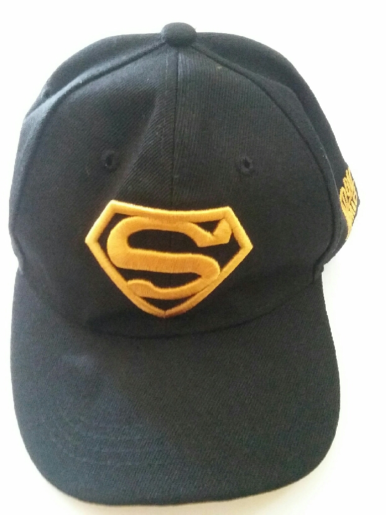 Hat with superman logo