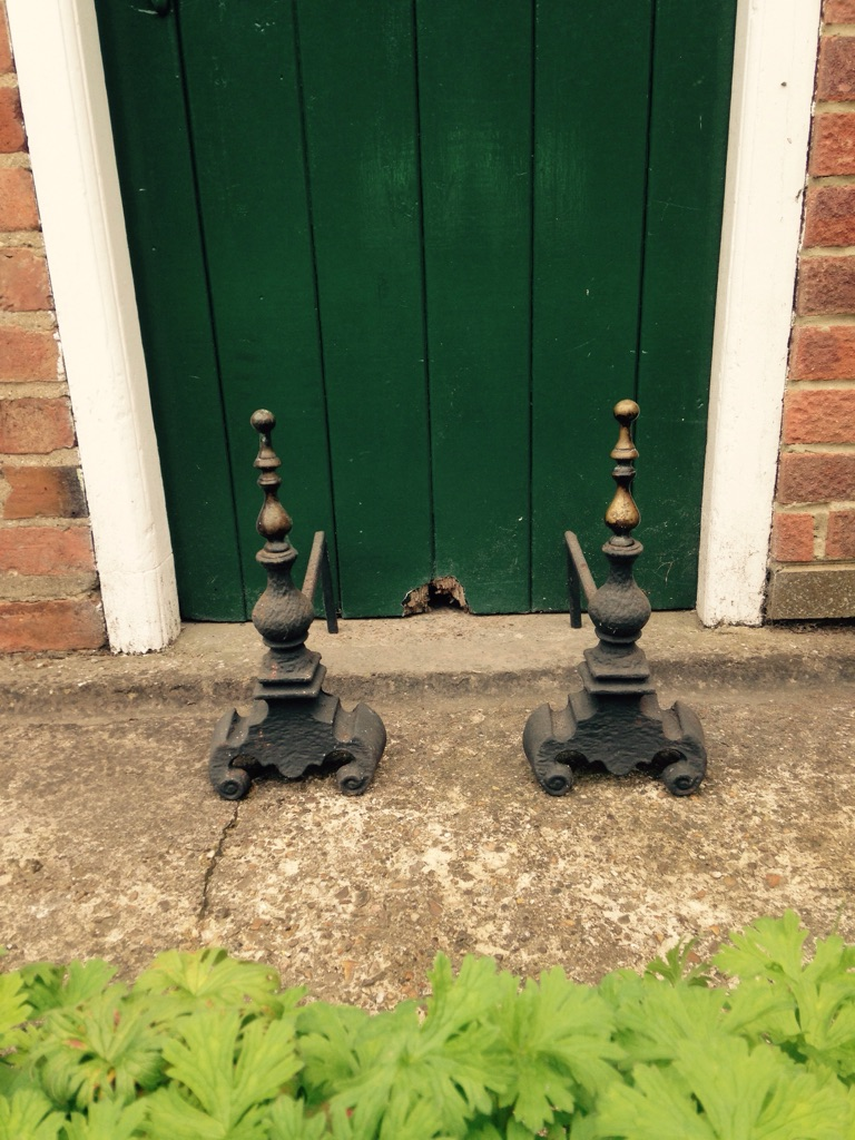 Cast Iron Fire Dog Stands