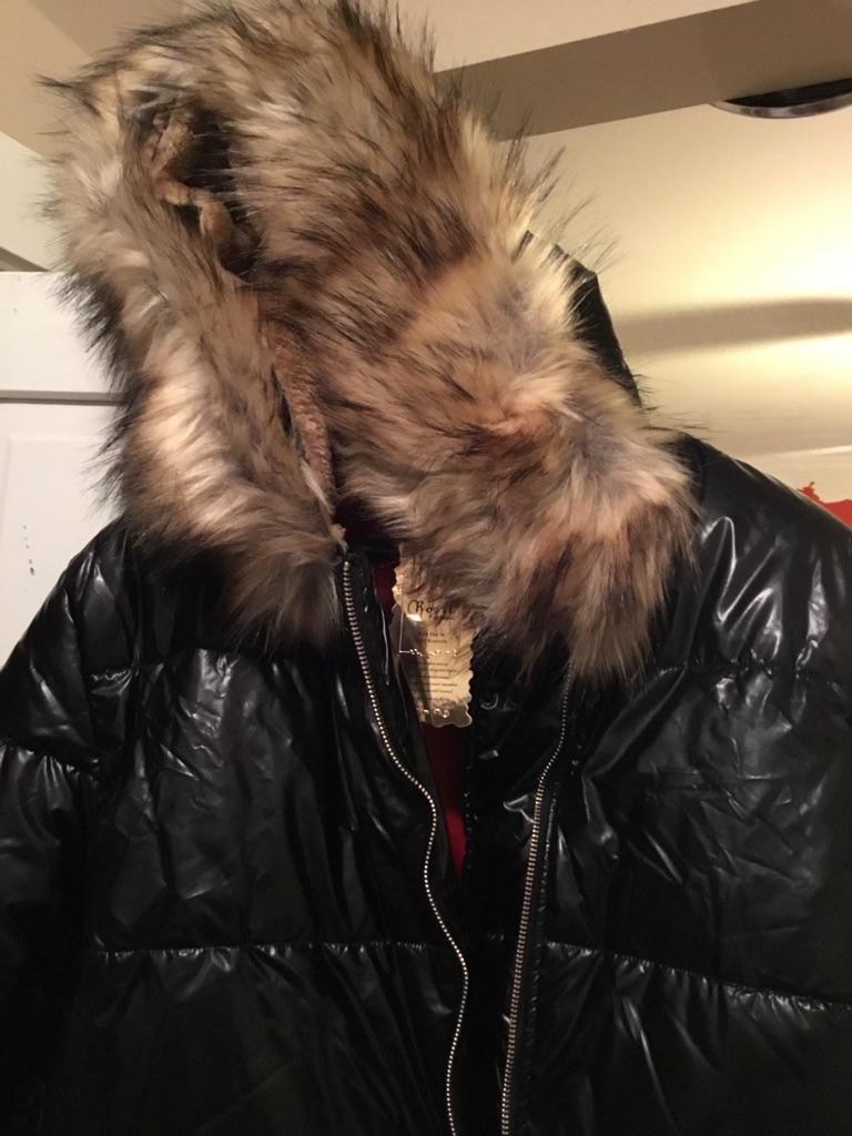 Shiny Black Puffy Jacket