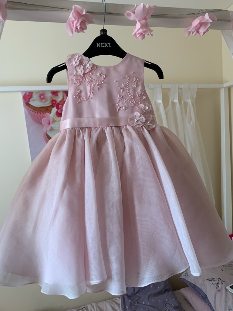Girls occasion dress with cardigan