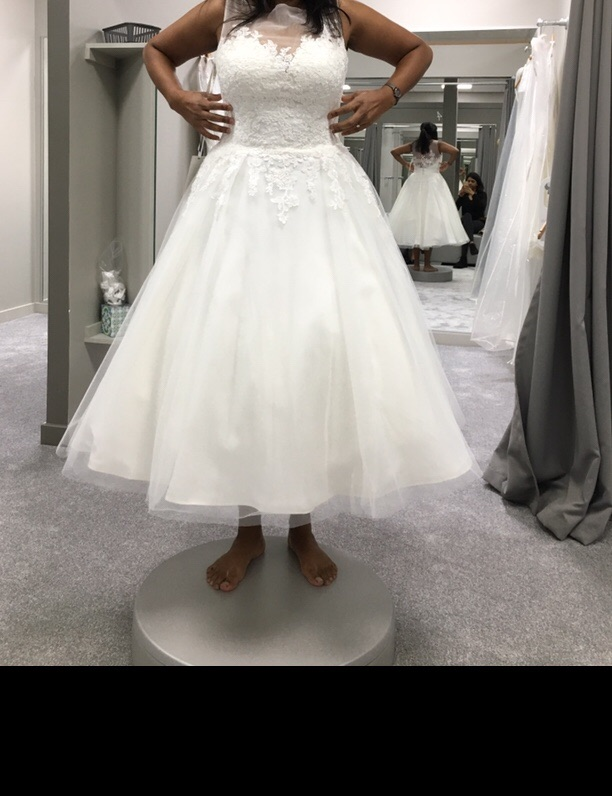 Size 12 tea length wedding dress