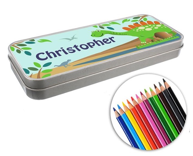Personalised boy's pencil tin