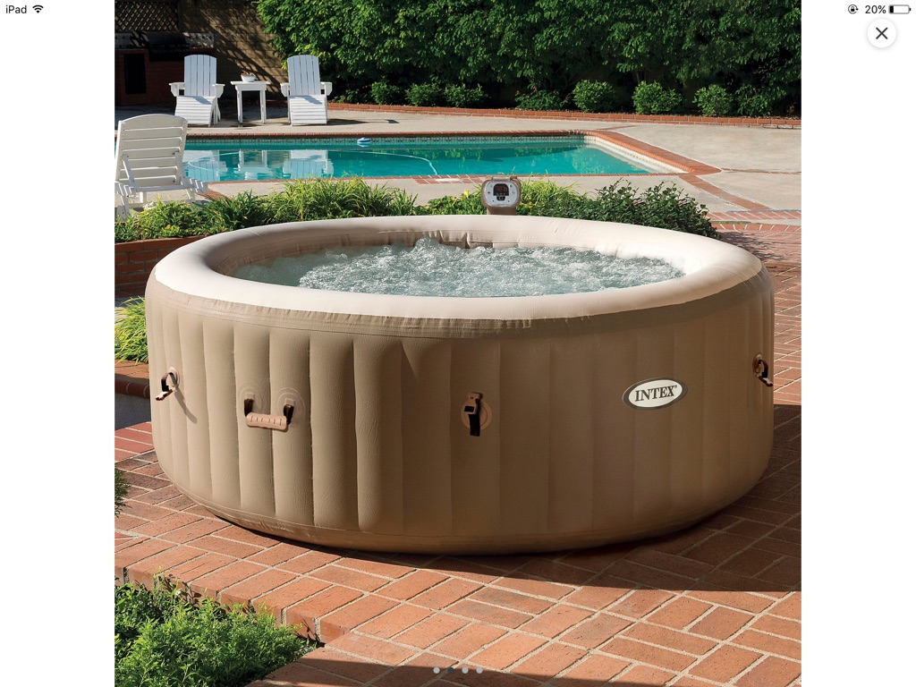 Intex purespa 4 person spa - priced to clear was £425 just 2 left!