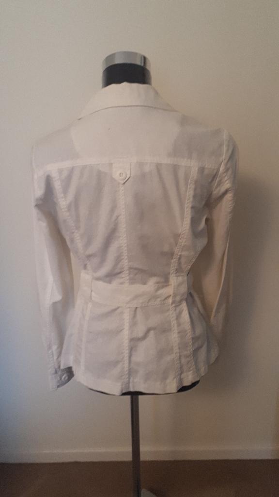 White Belted Jacket - Size 12