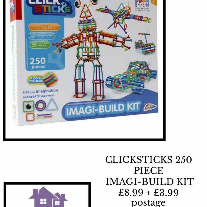 CLICKSTICKS 250 PIECE IMAGI-BUILD KIT
