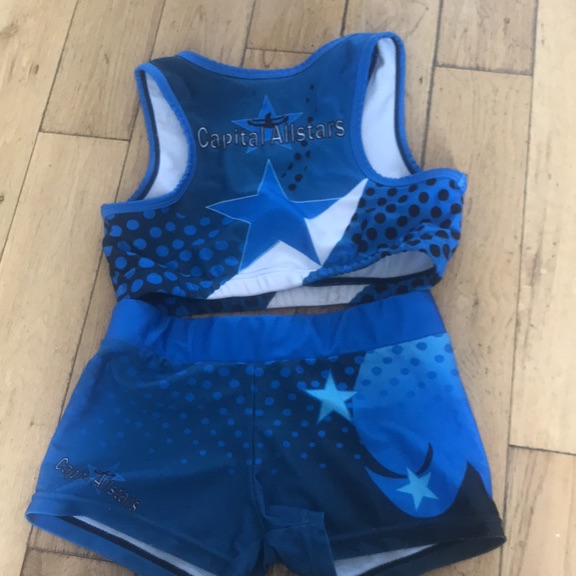 Capital Allstars cheer outfit