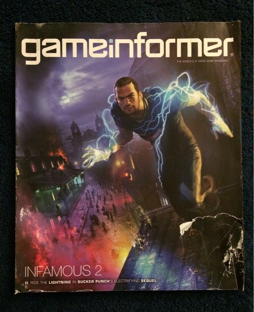 Game Informer Infamous 2 Magazine 🎮🗞