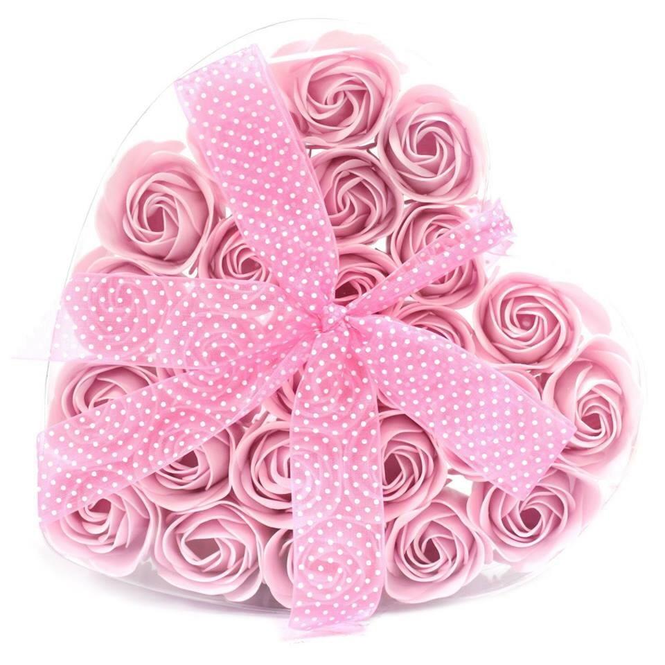 Flowers Soap In Heart Box Set Of 24