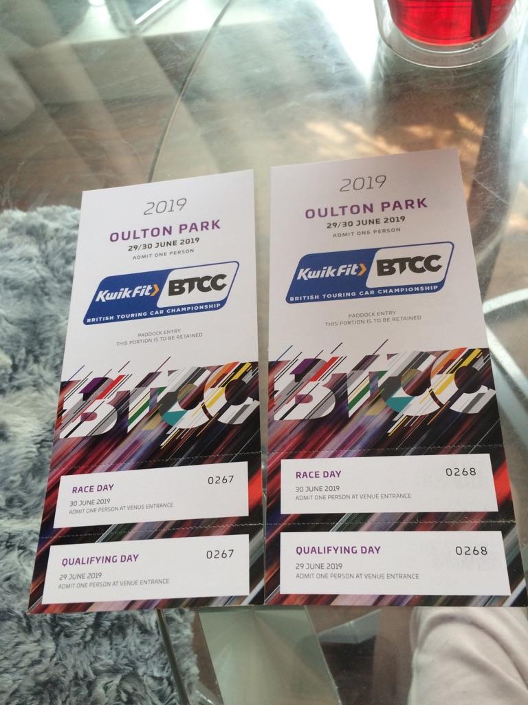 BTCC BRITISH TOURING CAR CHAMPIONSHIP WEEKEND TICKETS PADDOCK ENTRY