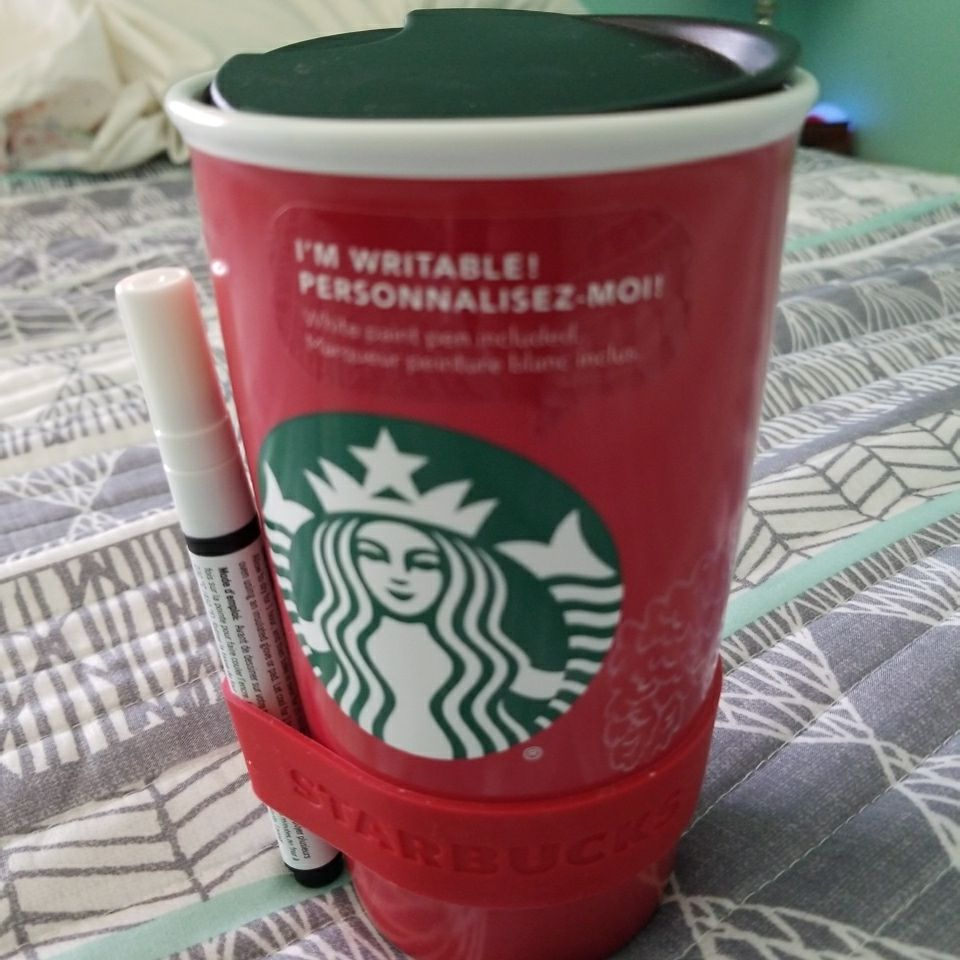STARBUCKS GLASS MUG NEW $15.00