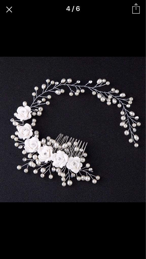 Stunning bridal hair vine Free postage