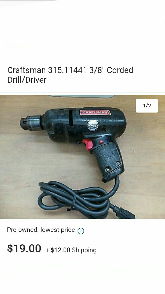 Sears craftsman electrical drill