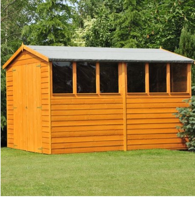 DIP TREATED 10X6FT WOODEN GARDEN SHED