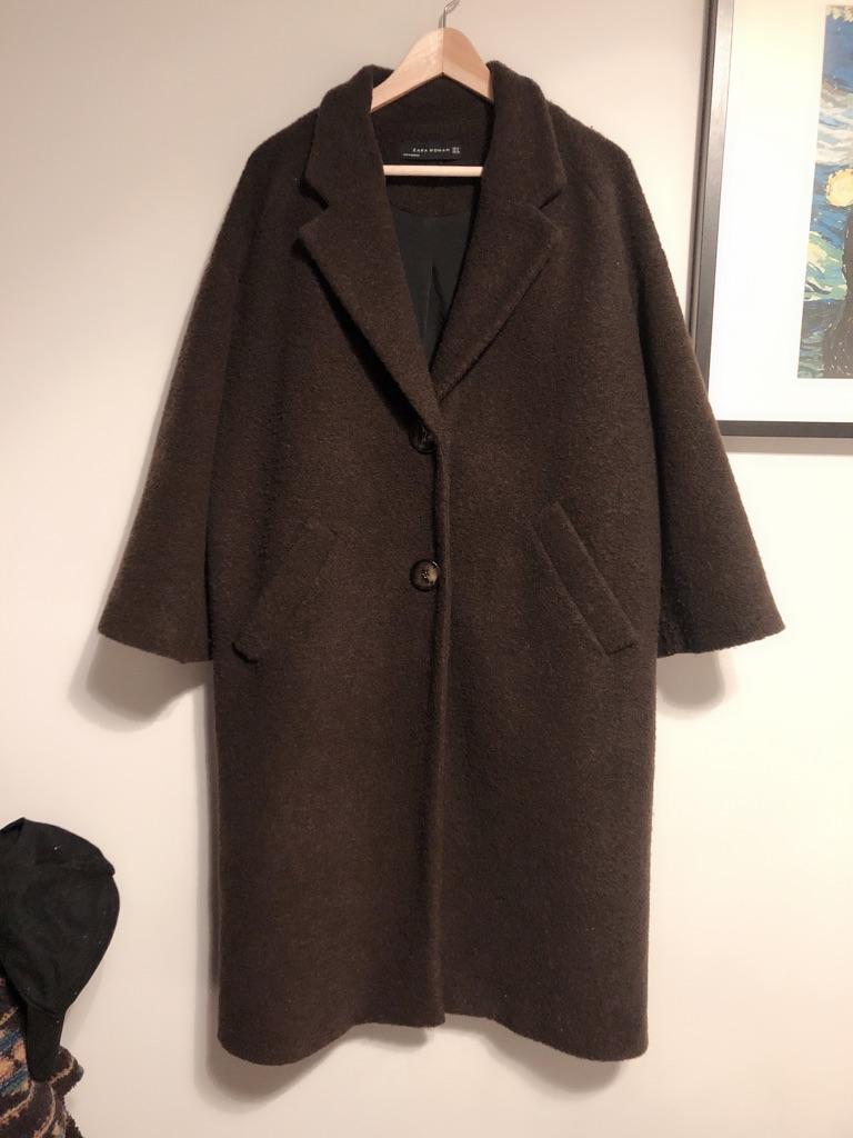 Zara coat woman brown size M