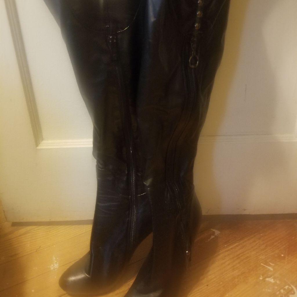 Womens thigh high heel boots size 9