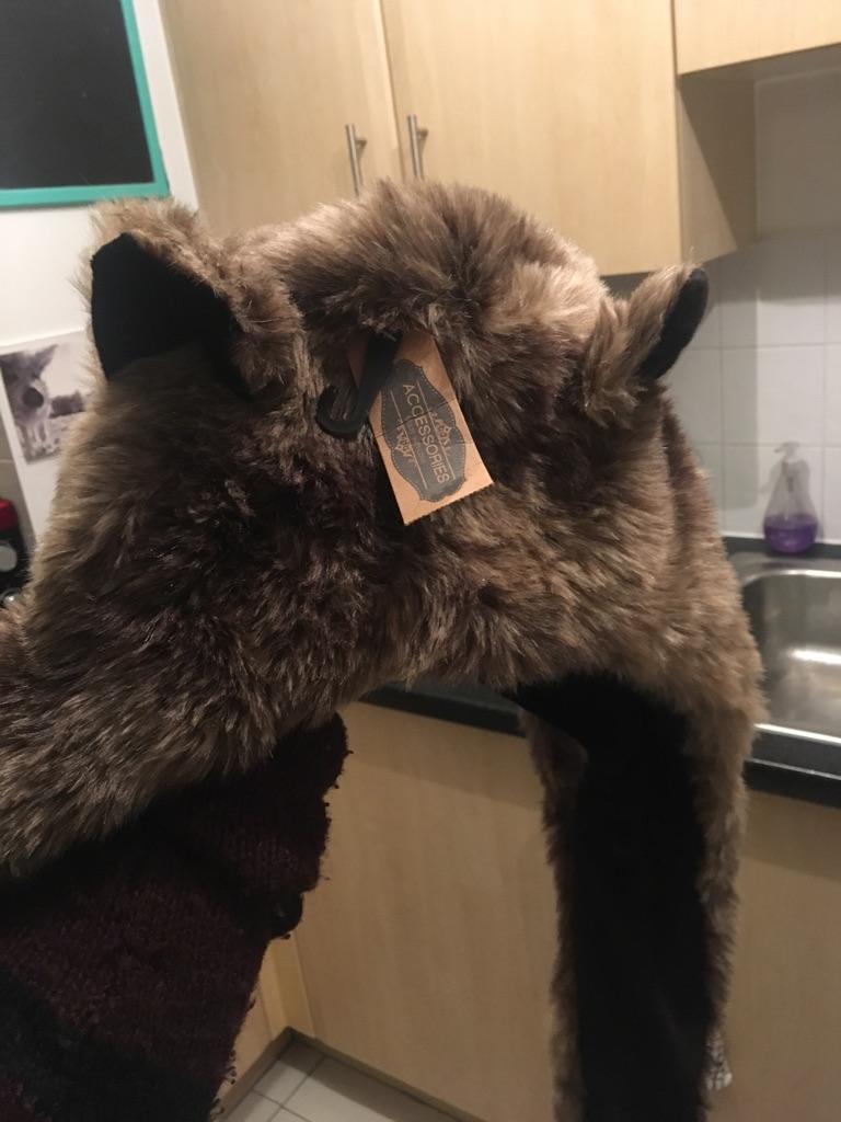 Accessories hat/scarf/mitten faux fur