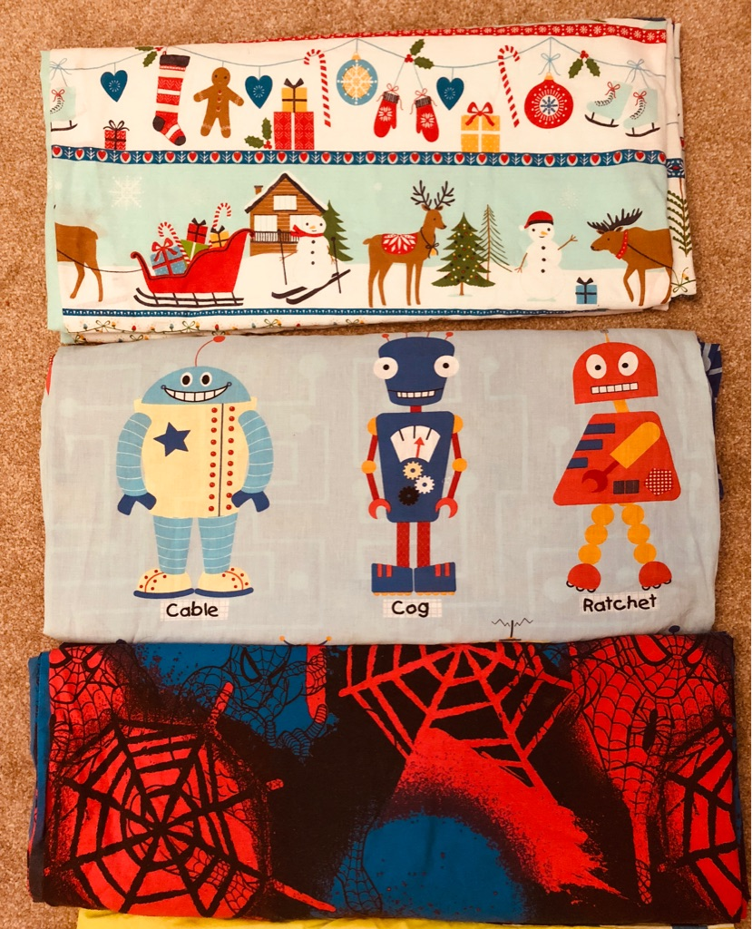 5 x Single Duvet Covers - Christmas, Spider-Man, Henry Huggle Monster, Robots, campervans