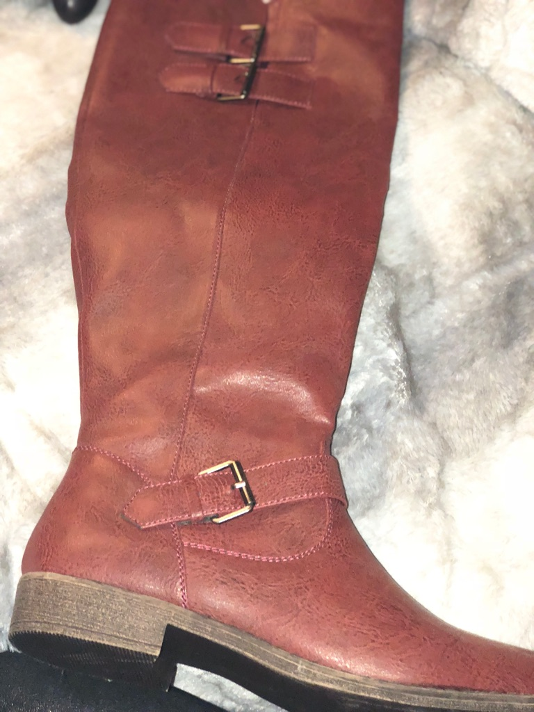 New brown knee high boots