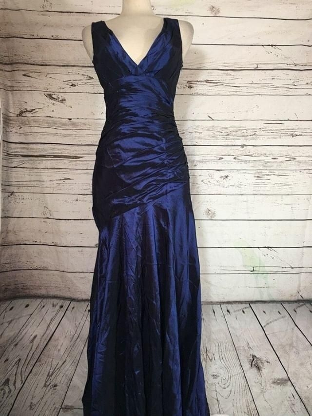 Metallic navy blue dress