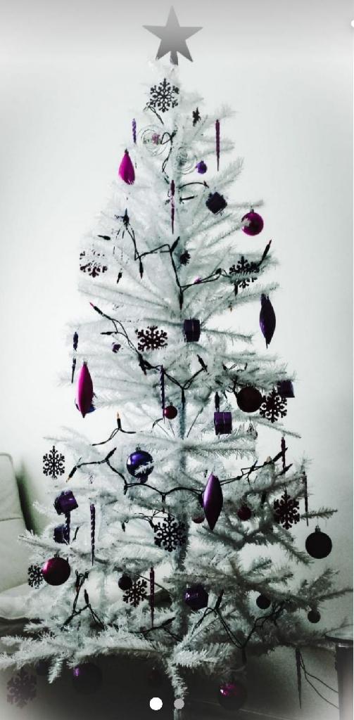 Christmas tree (white color) + battery lights