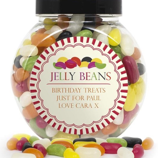 Personalised 'jelly beans' sweet jar