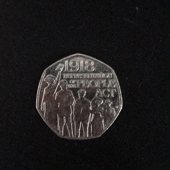 1918 Representation of the People Act 50p coin