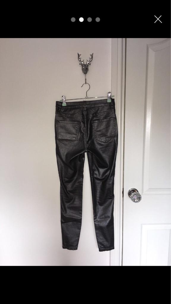 New look petite glittery jeans