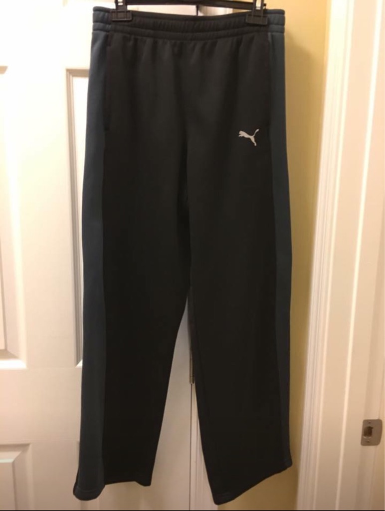 Boy's black and grey puma athletic pants