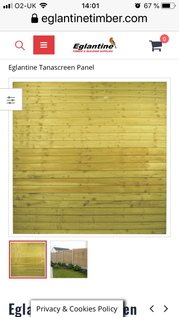 Fence panels and posts D-rails and Postcrete