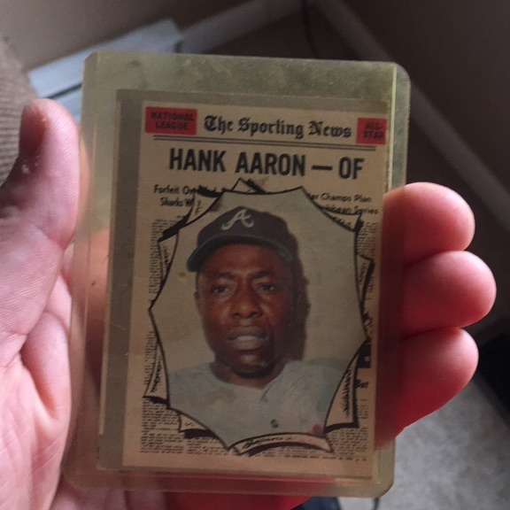 1970 Hank Aaron Sporting news card
