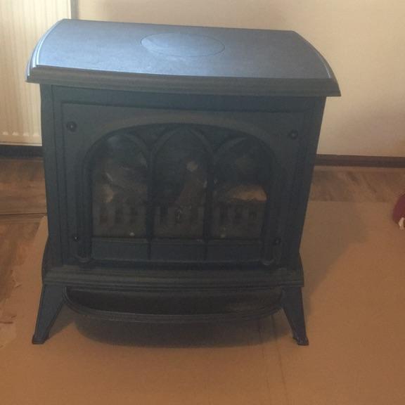 Cast Iron,log effect, gas fire
