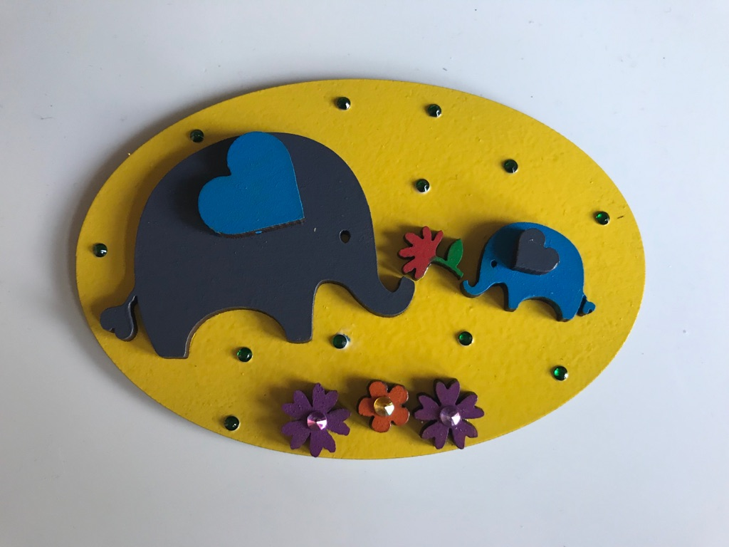 Mum & Baby Elephant plaque