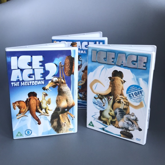 Ice Age DVD's 1, 2 and 4
