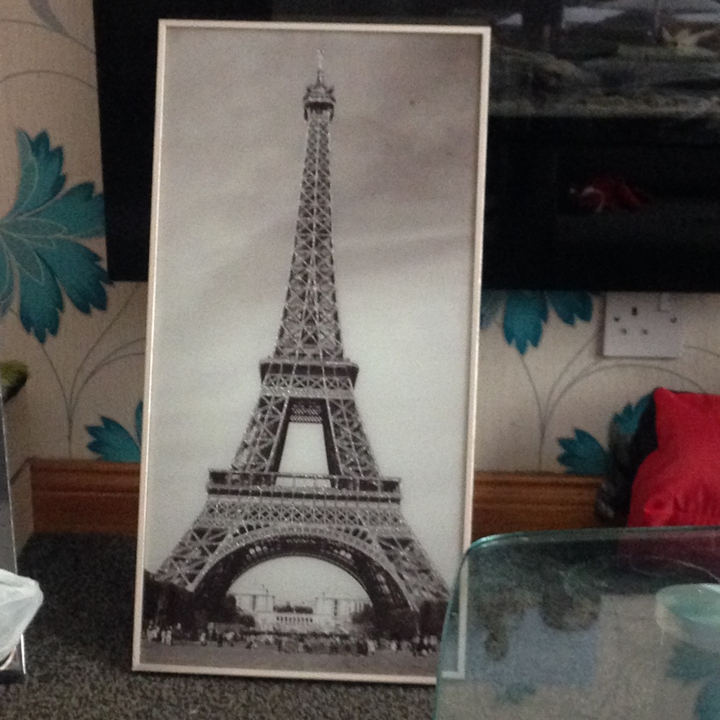 Glitter Eiffel Tower photo