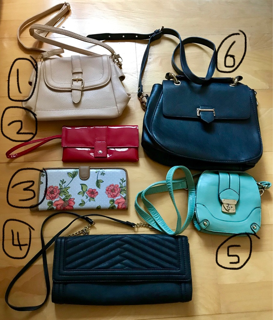 Selection of bags