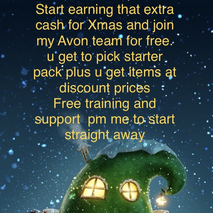 Join Avon and earn extra cash for Xmas