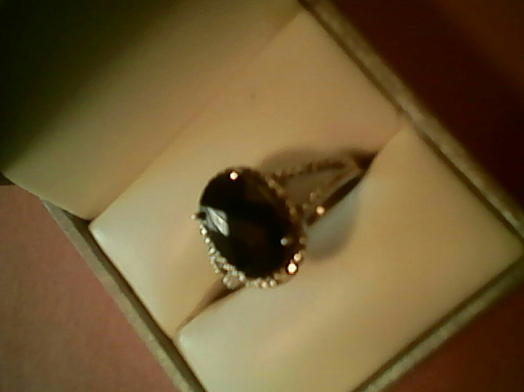 Authentic Black Spinel wit Diamond's... $70. Firm