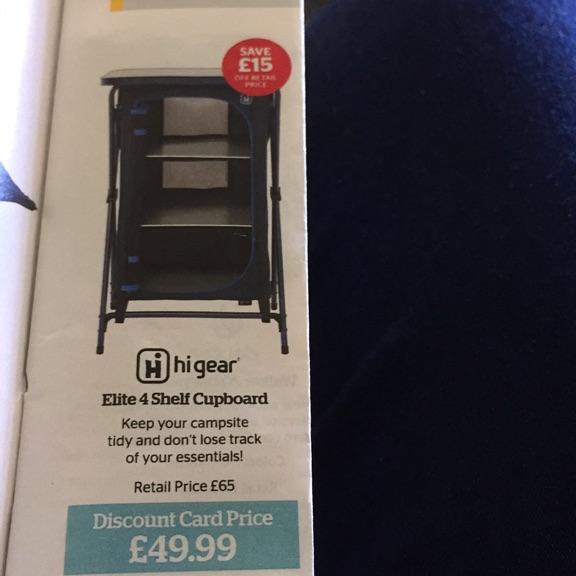 Elite 4 shelf cupboard ( hi gear )