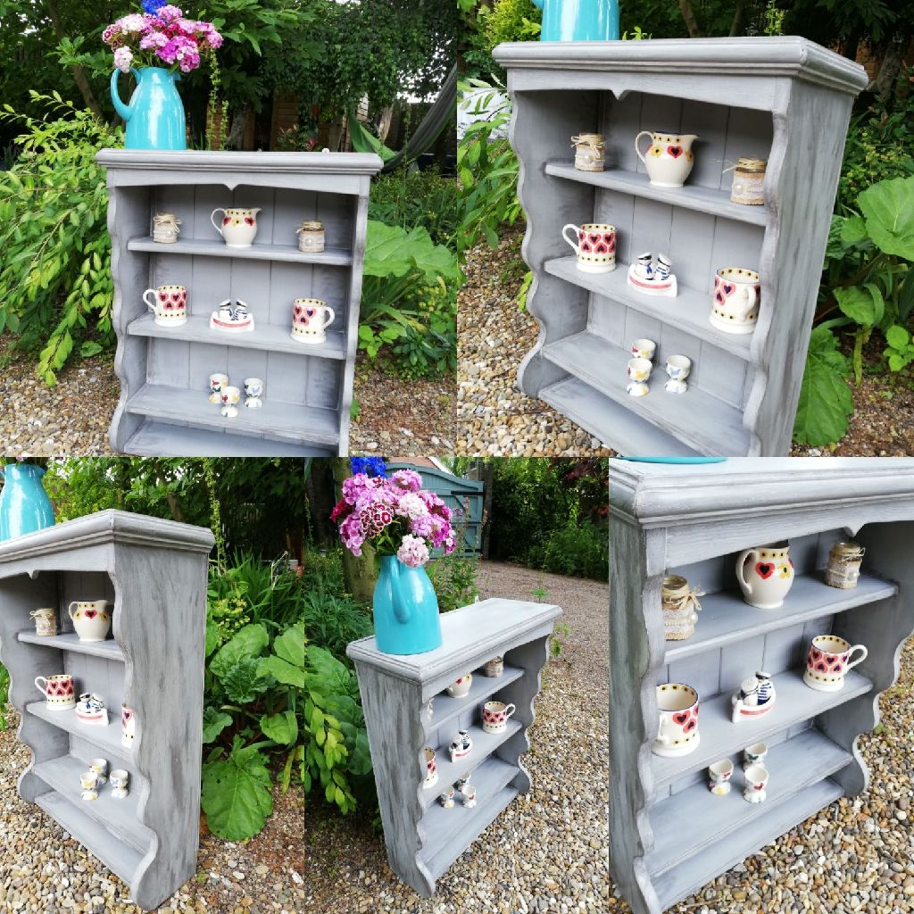 Lovingly Upcycled Shabby Chic Wall Hanging Shelving Unit by Junk2Treasure