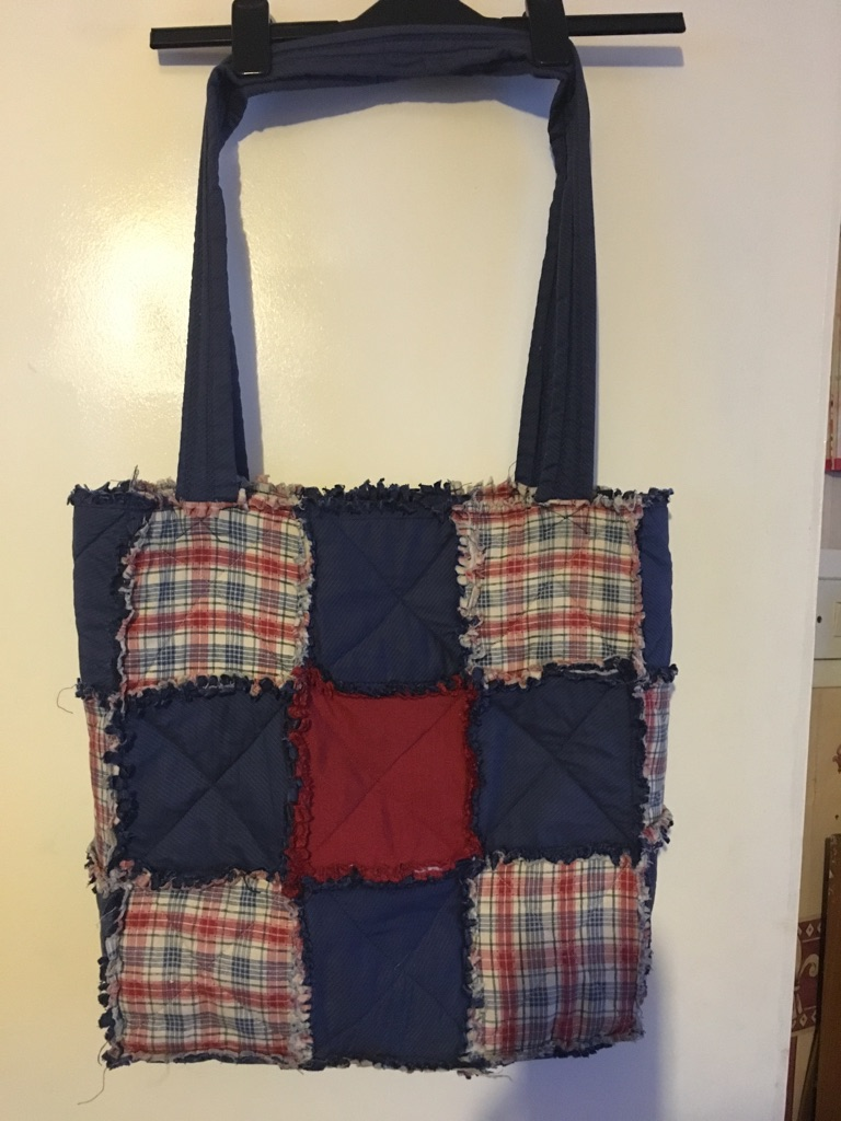 Handmade over the shoulder bag